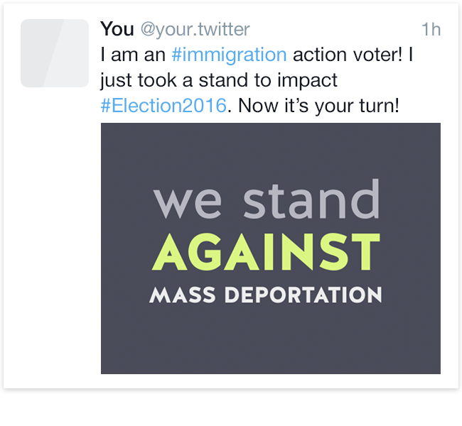 Share Immigration Voter on Twitter